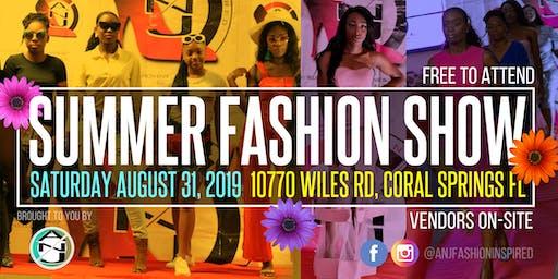 ANJ Fashion Inspired Presents: Summer Fashion Show 2019 - Coral Springs FL