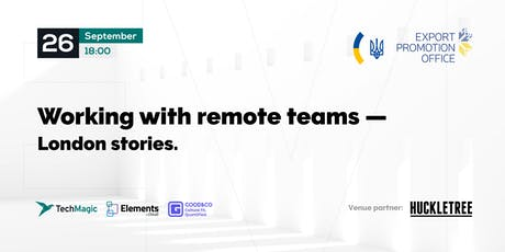 Working with remote teams - London stories tickets