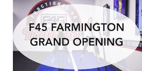 F45 FARMINGTON GRAND OPENING tickets