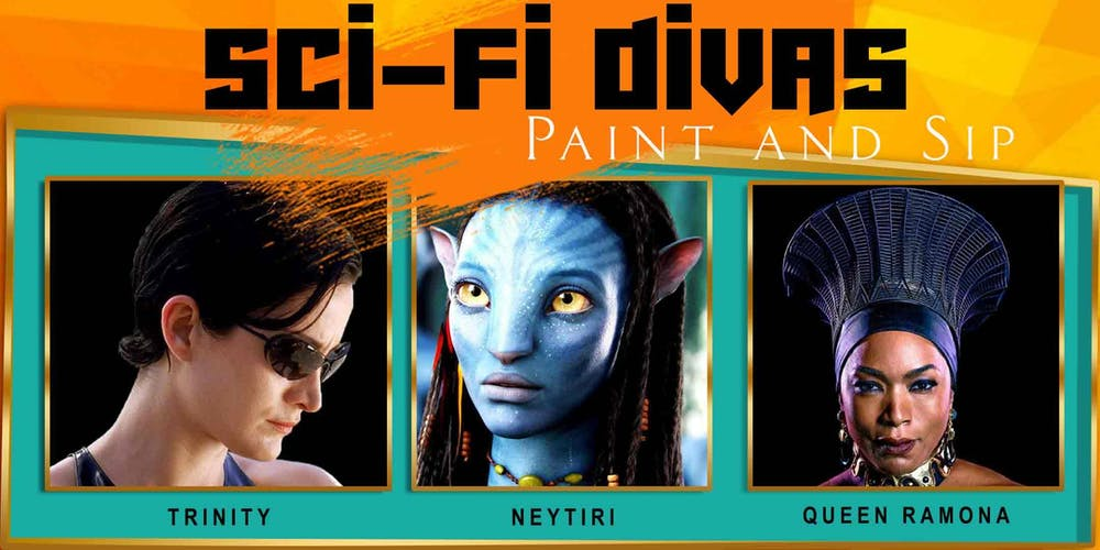 SCI-FI DIVAS Paint and Sip Tickets, Sat, Aug 31, 2019 at 1:00 PM