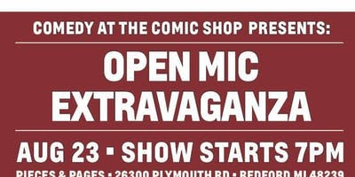 Comedy at the Comic Shop Presents: Open Mic Extravaganza