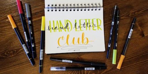 September Hand Letter Club - Sunday