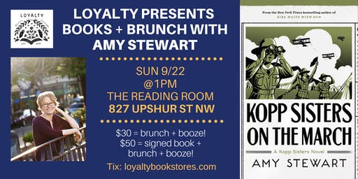 Loyalty Books + Brunch Presents Amy Stewart for Kopp Sisters on the March