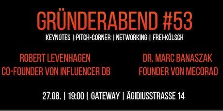 Gründerabend #53 Tickets