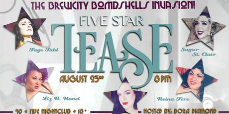 "Five Star Tease 8/23rd ""The Brewcity Bombshell Invasion"" tickets"