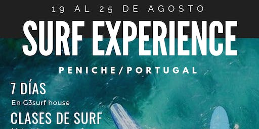 SURF EXPERIENCE, Portugal 19 - 25 Ago
