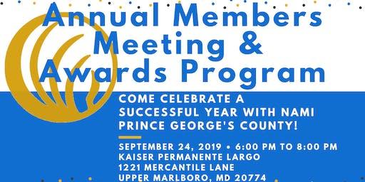NAMI PGC Presents: Annual Members Meeting & Awards Program 2019
