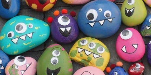 Kids Monster Rock Painting