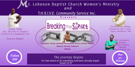 "Breaking the Silence Conference ""The Journey Begins""  tickets"