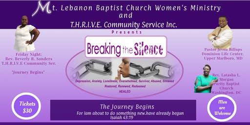 "Breaking the Silence Conference ""The Journey Begins"""