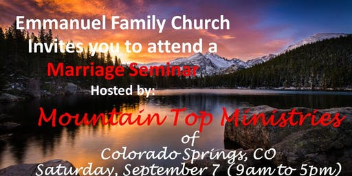 """What Does a Biblical Marriage Look Like"" Seminar"