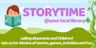 Storytime, Dumbarton Library (Tuesdays, 3.30pm)