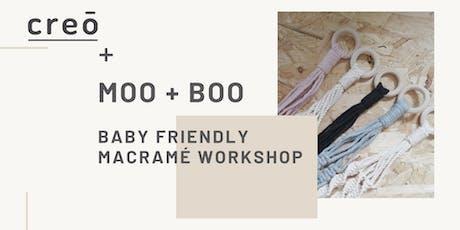 creō & MOO + BOO - Baby Friendly Macramé Plant Hanger Workshop tickets
