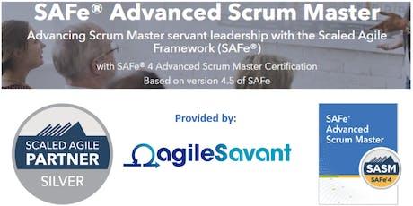 SAFe 4.6 Advanced Scrum Master w/ SASM Certification tickets