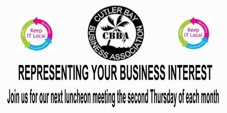 CBBA BUSINESS NETWORKING LUNCHEON 9-12-2019 tickets