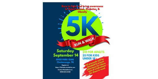 5K Walk/Run A race to fight and bring awareness to Hypertension, Diabetes, & Obesity