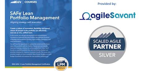 SAFe 4.6 Lean Portfolio Management tickets