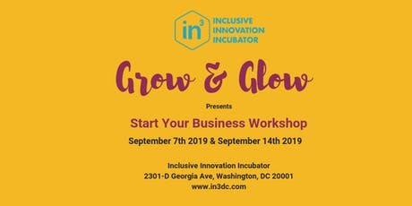 In3 - Grow & Glow Start your Business Workshop tickets