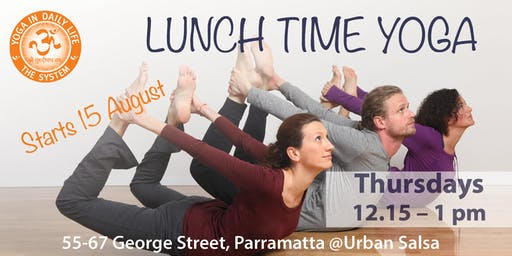 Lunch time Yoga in Parramatta
