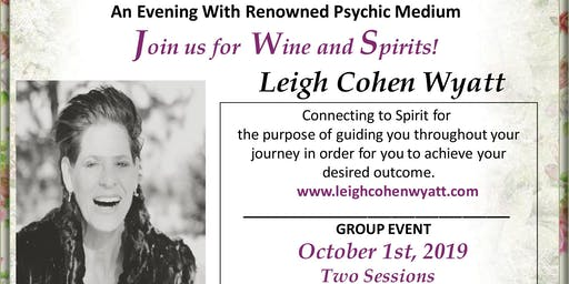 An Evening with Renowned Psychic/Medium Leigh Cohen Wyatt