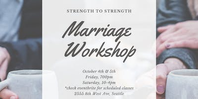 Strength to Strength {Marriage Workshop}