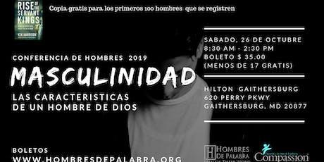 """Conferencia de Hombres 2019 """"MASCULINIDAD""""  Hombres de Palabra tickets"""