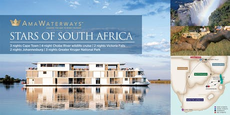 Ama Waterways Stars of South Africa 14-Night Hosted Land & River Safari tickets
