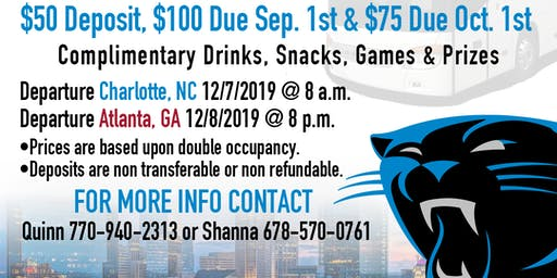 Carolina Panthers vs Atlanta Falcons Bus Trip