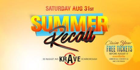 Summer Recall tickets