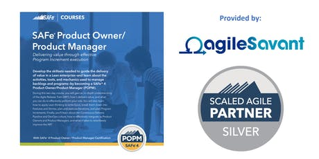 SAFe 4.6 Product Owner / Product Manager w/ POPM Certification tickets