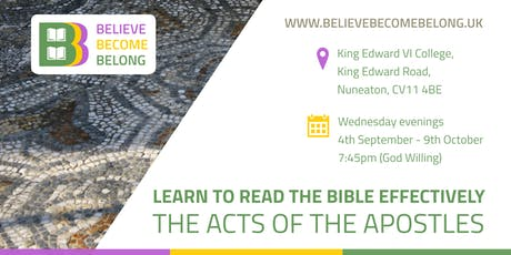 Adult Learning Course: Learn to read the Bible - The Acts of the Apostles tickets