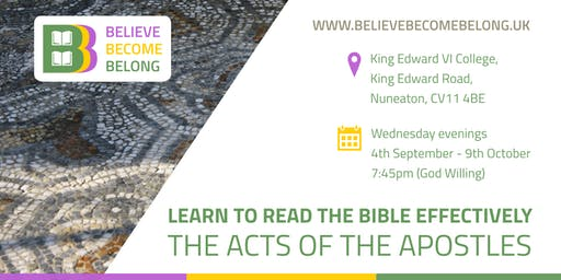 Adult Learning Course: Learn to read the Bible - The Acts of the Apostles
