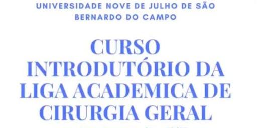 I CURSO INTRODUTÓRIO DA LIGA DE CIRURGIA GERAL - SBC