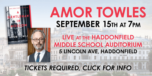 An Evening  with Amor Towles