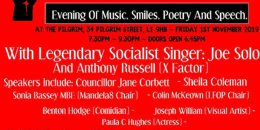 Solidarity Forever: Evening Of Music, Smiles, Poetry And Speech.