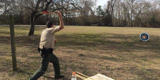 Lockhart State Park Homeschool Class: Ancient Spear Throwing