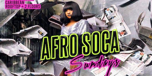Afro Soca Sundays FREE ENTRY! U St ($5 RumPunch|$15 Hookah|$10 Jack/Bacardi)