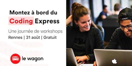 Le Wagon Coding Express : 1 journée d'ateliers gratuite billets