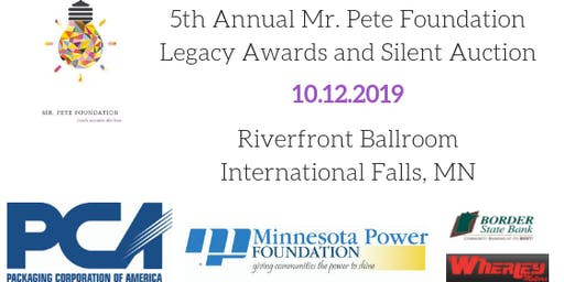 5th Annual Mr. Pete Foundation Legacy Awards Dinner and Silent Auction