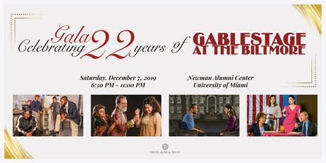 Gala Celebrating 22 years of GableStage tickets