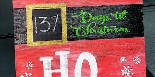 DIY Christmas Countdown Wood Sign