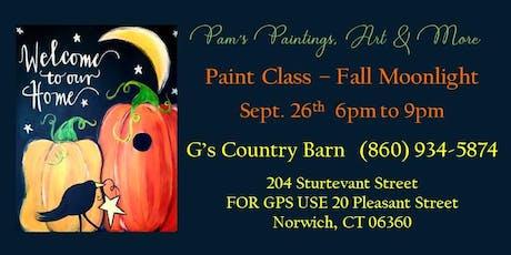 Paint Class - Fall Moonlight tickets