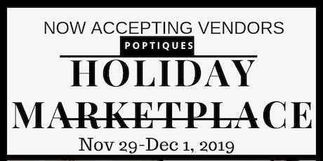 Holiday Marketplace Vendor Opportunity tickets
