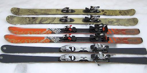 Ski and snowboard maintenance demonstration