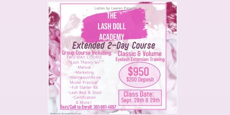 2-DAY Classic and Volume Eyelash Extension Training  tickets
