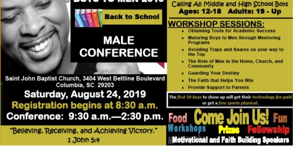 Boys to Men 2019 Back to School Male Conference Tickets, Sat, Aug 24