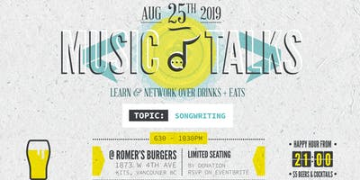 MUSIC TALKS Vol. 4 - A Songwriters Dinner & Learn Event.