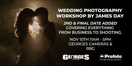 Wedding Photography Workshop by James Day 2ND DATE ADDED