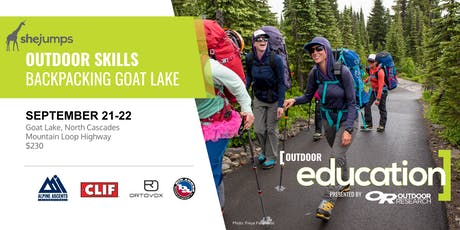 WA SheJumps Outdoor Skills: Backpacking Goat Lake tickets
