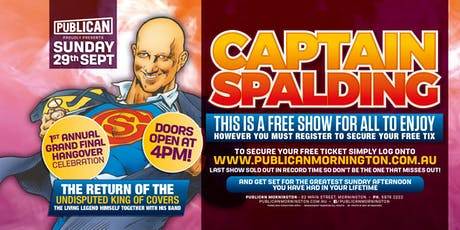 Captain Spalding LIVE at Publican, Mornington! tickets